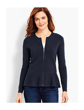 Zip Front Sweater Jacket by Talbots