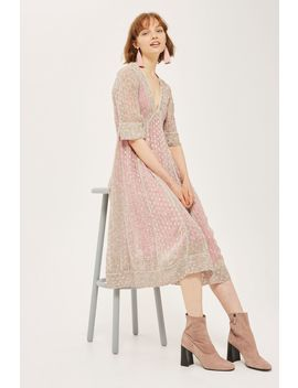 Spotted Midaxi Dress by Topshop