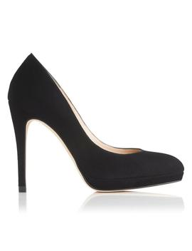 New Sledge Black Suede Heel by L.K.Bennett