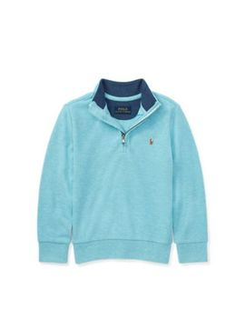 Cotton Mesh Half Zip Pullover by Ralph Lauren