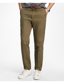 Clark Fit Piece Dyed Supima® Cotton Stretch Chinos by Brooks Brothers