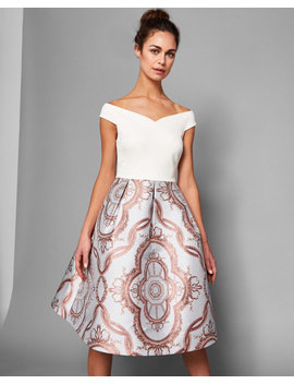 Versailles Jacquard Full Skirted Dress by Ted Baker