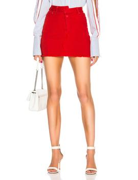 Reconstructed Denim Mini Skirt by Monse