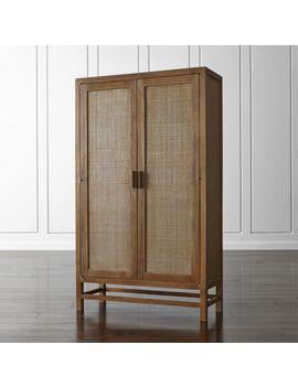 Blake Grey Wash 2 Door Cabinet by Crate&Barrel