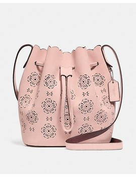 Bucket Bag 18 With Cut Out Tea Rose by Coach