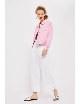 Moto Draw Tie Cropped Wide Leg Jeans by Topshop