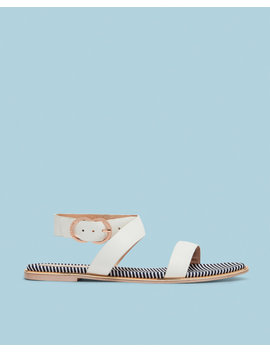 Flat Cross Strap Leather Sandals by Ted Baker