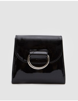 Tiny Box Bag In Black Patent by Need Supply Co.
