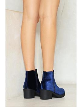 Soft At Heart Velvet Ankle Boot by Nasty Gal
