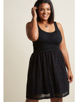 Artisan Iced Tea Lace Dress In Black In S Artisan Iced Tea Lace Dress In Black In S by Modcloth