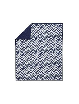 Blue Little Prints Baby Quilt by Crate&Barrel