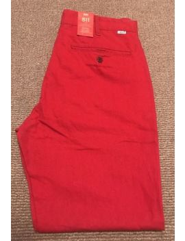 Red Chino Levi's 511 W32 L32 by Ebay Seller