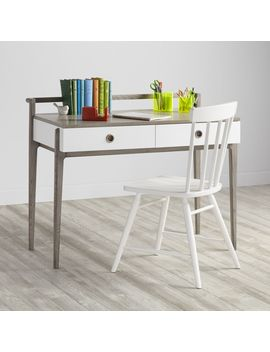 Kids Wrightwood Grey Stain And White Desk by Crate&Barrel
