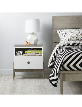 Kids Wrightwood Grey Stain And White Nightstand by Crate&Barrel