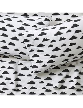 Organic Black And White Cloud Full Sheet Set by Crate&Barrel