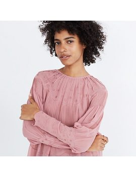 Ulla Johnson™ Embroidered Silk Alba Top by Madewell