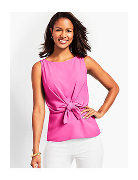Tie Front Top by Talbots