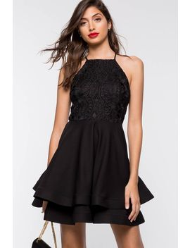Laney Lace Flare Dress by A'gaci
