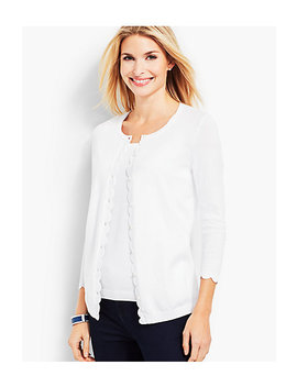 Charming Cardigan   Scalloped Edge by Talbots