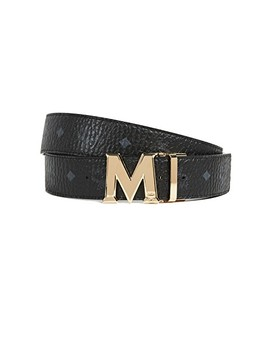Gold M Buckle Reversible Belt by Mcm
