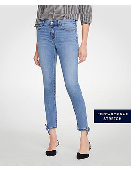 Petite Modern Ankle Tie All Day Skinny Crop Jeans by Ann Taylor