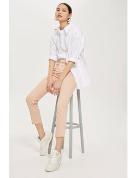 Moto Dusty Pink Straight Leg Jeans by Topshop
