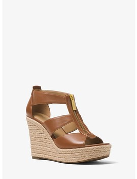 Damita Leather Wedge by Michael Michael Kors