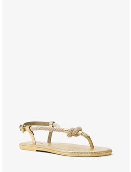 Holly Rope Trim Metallic Sandal by Michael Michael Kors