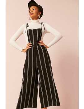 Stripe Wide Leg Overalls by Forever 21