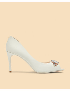 Embellished Peep Toe Courts by Ted Baker