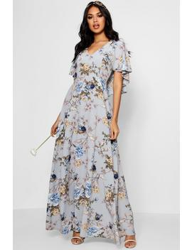 Boutique Mallorie Floral Cape Maxi Dress by Boohoo