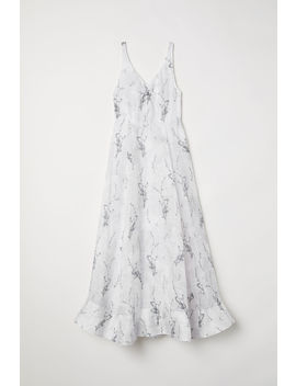 Long Linen Blend Dress by H&M