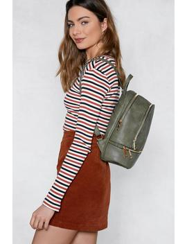 Want Don't Look Back Vegan Leather Backpack by Nasty Gal