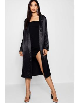 Charlotte Satin Duster by Boohoo