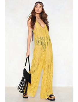 Jefferson Airplane Lace Jumpsuit by Nasty Gal