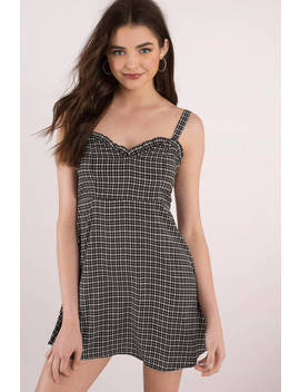 Right Down The Middle Black Multi Cut Out Dress by Tobi