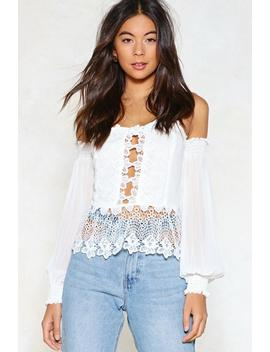 Empty Spaces Crochet Top by Nasty Gal