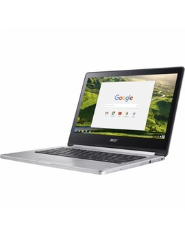 """R 13 2 In 1 13.3"""" Refurbished Touch Screen Chromebook   Mt8173   4 Gb Memory   32 Gb E Mmc Flash Memory   Sparkly Silver by Acer"""