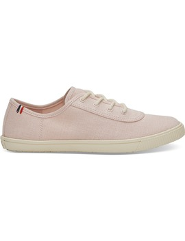 Clare V. Pale Pink Canvas Women's Carmel Sneakers by Toms