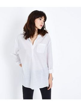 White Overhead Shirt by New Look