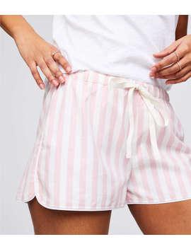 Striped Flannel Pajama Shorts by Loft
