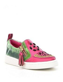 Girls' Blane Watermelon Rhinestone Embellishment Sneakers by Sam Edelman