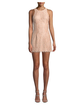 Brianna Lace Mini Dress W/ Cutout by Nbd