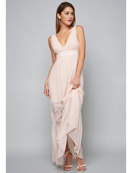Lace Trim Maxi Dress by Bebe