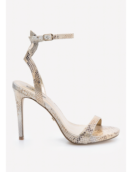 Rosa Faux Snake Sandals by Bebe