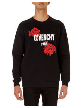 Logo And Rose Graphic Cuban Fit Sweatshirt by Givenchy