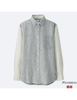 Men Jwa Linen Cotton Long Sleeve Shirt by Uniqlo