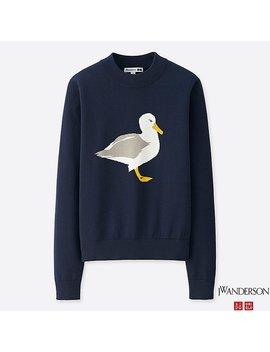 Women Jwa Cotton Crewneck Sweater by Uniqlo