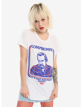 Stranger Things Hopper Compromise Girls T Shirt by Hot Topic