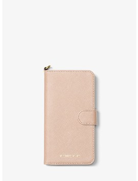 Saffiano Leather Folio Phone Case For I Phone7/8 Plus by Michael Michael Kors